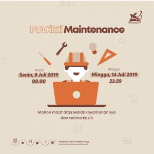 Maintenance Pddikti juli 2019